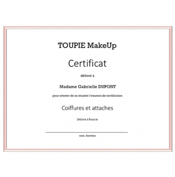 La certification - Coiffures et attaches