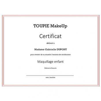 La certification - Maquillage enfant