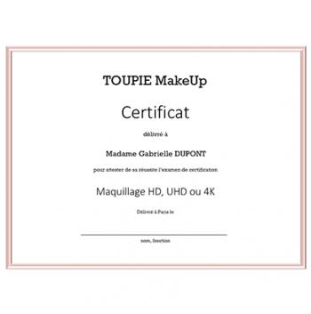La certification - Maquillage HD, UHD ou 4K