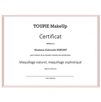 La certification - Maquillage naturel, maquillage sophistiqué