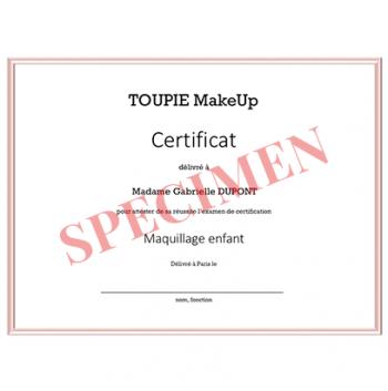 L'examen de certification - Maquillage enfant - Niveau 1