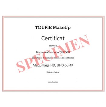 L'examen de certification Maquillage HD, UHD ou 4K