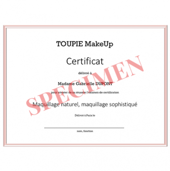 L'examen de certification - Maquillage naturel, maquillage sophistiqué