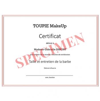 L'examen de certification - Taille et entretien de la barbe